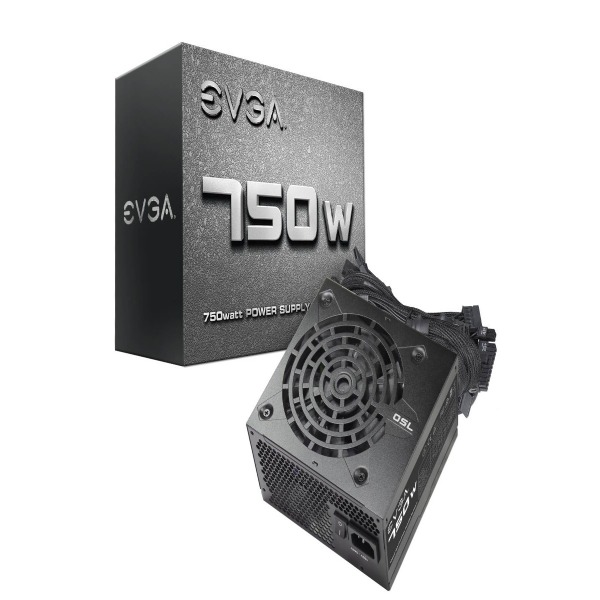 Nguồn EVGA 750 N1, 750W, 2 Year Warranty, Power Supply 100-N1-0750-L1 1